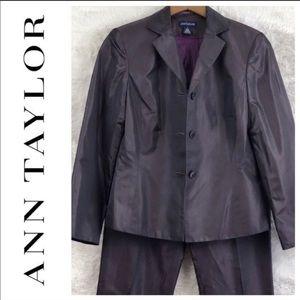 ⬇️ $30 Ann Taylor Silk Purple Suit Size 4